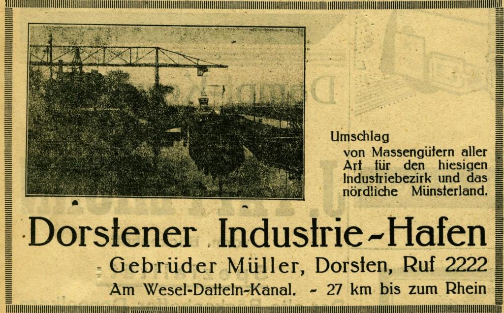 Inserat der Gebr. Müller vom 24. Juni 1934