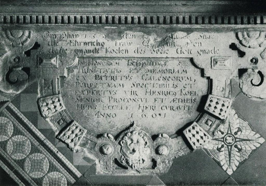 Koel-Epitaph (unterer Teil) in der Agathakirche