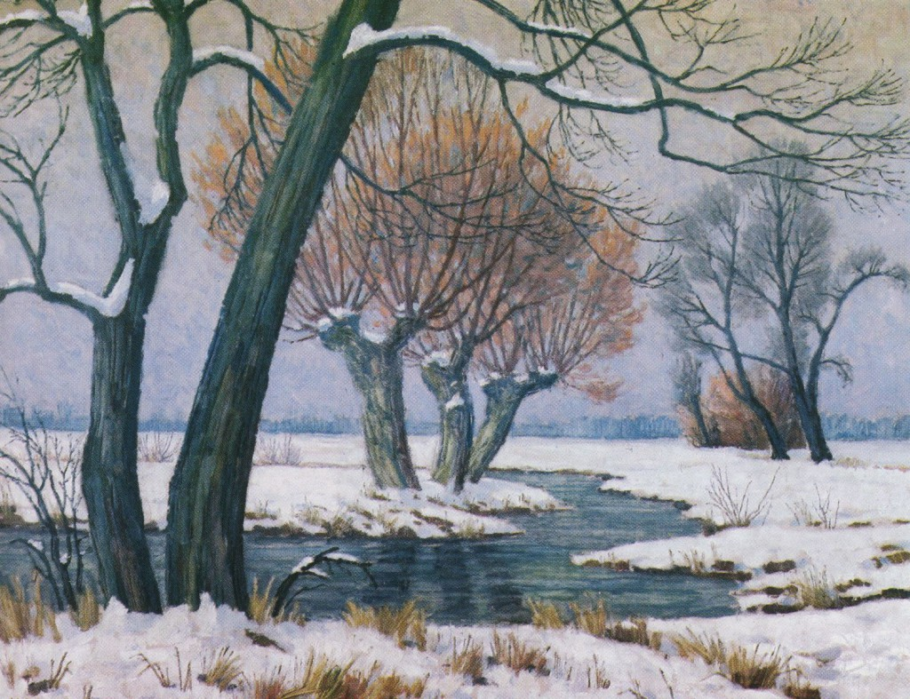 Schölzbach im Winter, Gemälde von Karl Korte