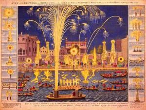 Klevischer Krieg dargestellt mit einem Royal Fireworks