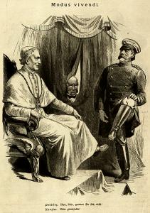 Kladderadatsch 1878: Papst und Bismarck