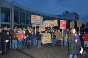 Protest in Lünen gegen eine geplante LWL-Forensik