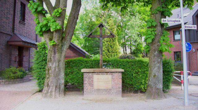 Wegekreuz am Schlagheck in Holsterhausen; Foto: Wolf Stegemann
