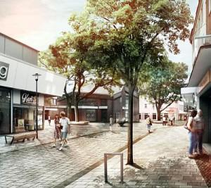 So könnte die Fußgängerzone aussehen. Animation: Planungsbüro Lohaus + Partner
