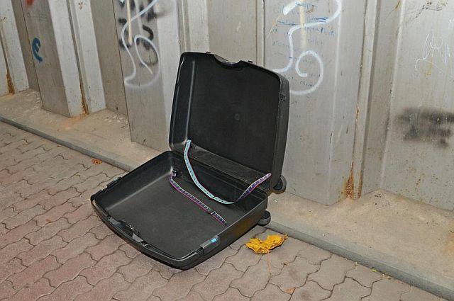Der leere Koffer; Foto: Guido Bludau (DZ)