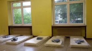 Notunterkunft im alten Petrinum; Foto: Radio Vest