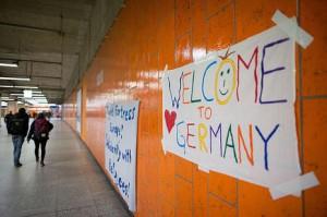 Willkommen-Plakate