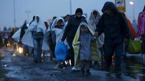 Flüchtlinge auf dem Weg in eine sichere Existenz