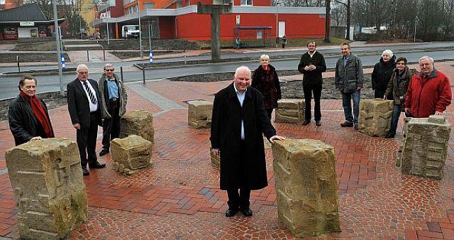 Einweihung der Bürgerskulpturen in Barkenberg; Foto: Guido Bludau (Wulfen-Wiki)