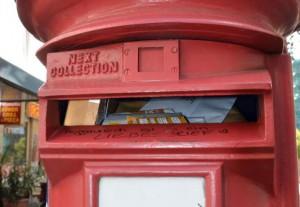 Britischer Briefkasten in der Recklinghäuser Straße, ein Geschenk aus Crawley; Foto: Rüdiger Eggert