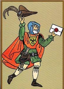 Briefbote 15. Jahrhundert