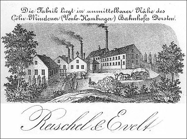 Briefkopf der Weberei (Ausriss)