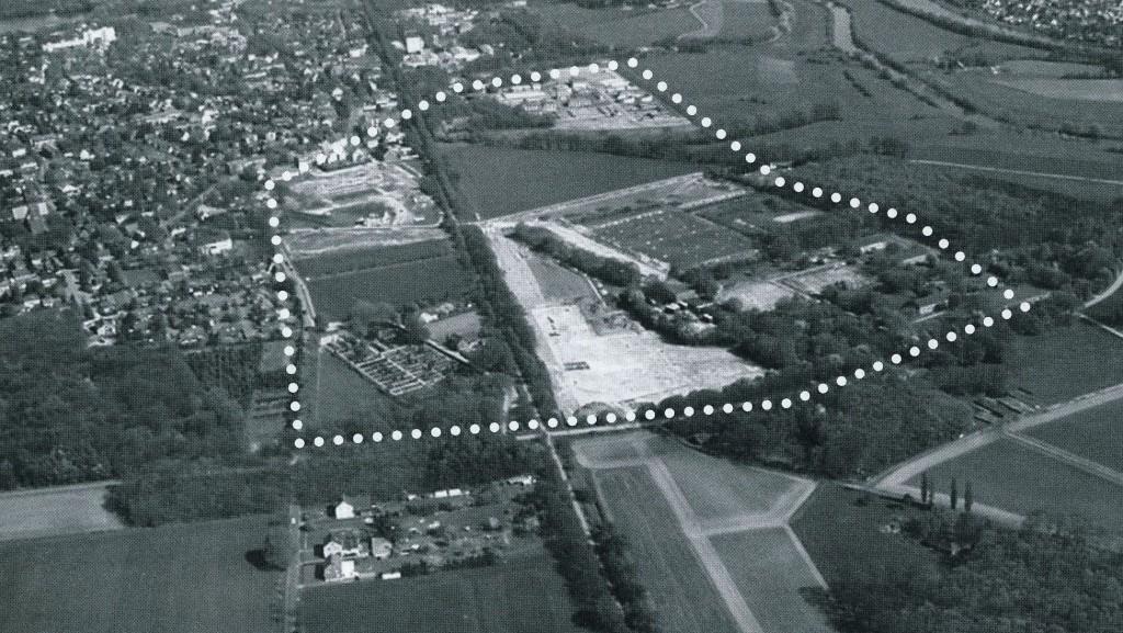 Umrisse des Römerlagers in Holsterhausen