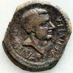 Münze mit dem Varus-Kopf