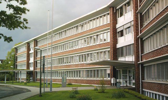 Dorstener Rathaus am Gemeindedreieck
