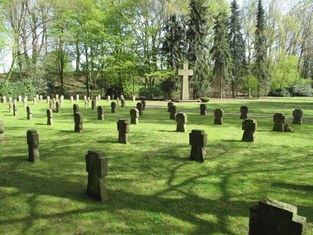 Soldaten- und Ehrenfriedhof im St. Agatha-Friedhof; Foto: Wolf Stegemann