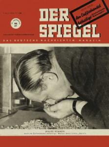 Spiegel-Titel 1950 - Prüfung Schmuggelware Kaffee