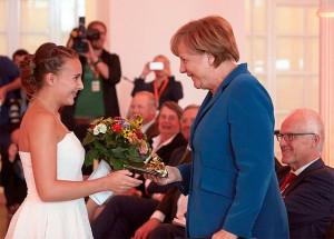 Bundeskanzlerin Merkel bedankt sich