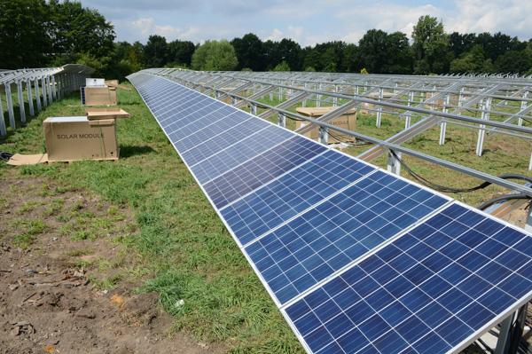 Solarfeld auf der ehemaligen Mülldeponie in Wulfen