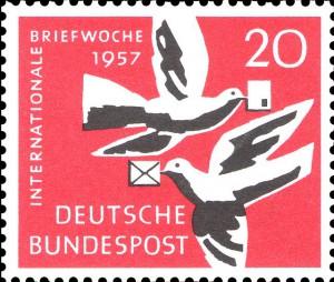 Tauben-Briefmarke 1957