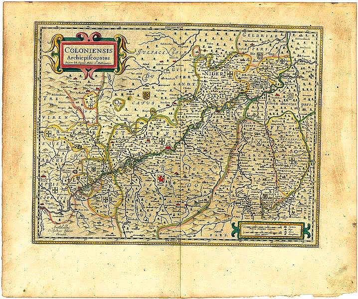 Zugehörigkeit zu Köln, Karte von 1645