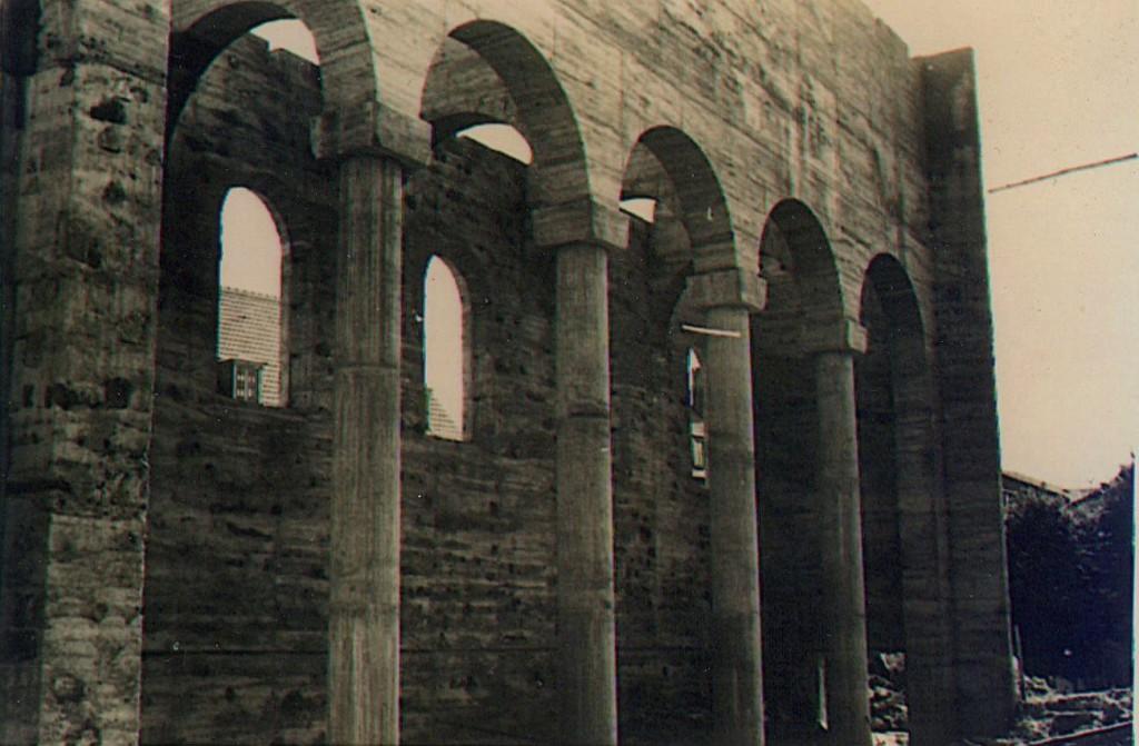 Wiederaufbau der Kirche 1950