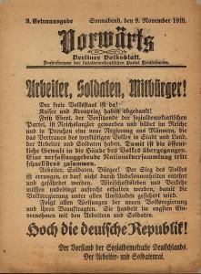 Sozialdemokraten im Bündnis mit dem Arbeiter- und Soldatenrat