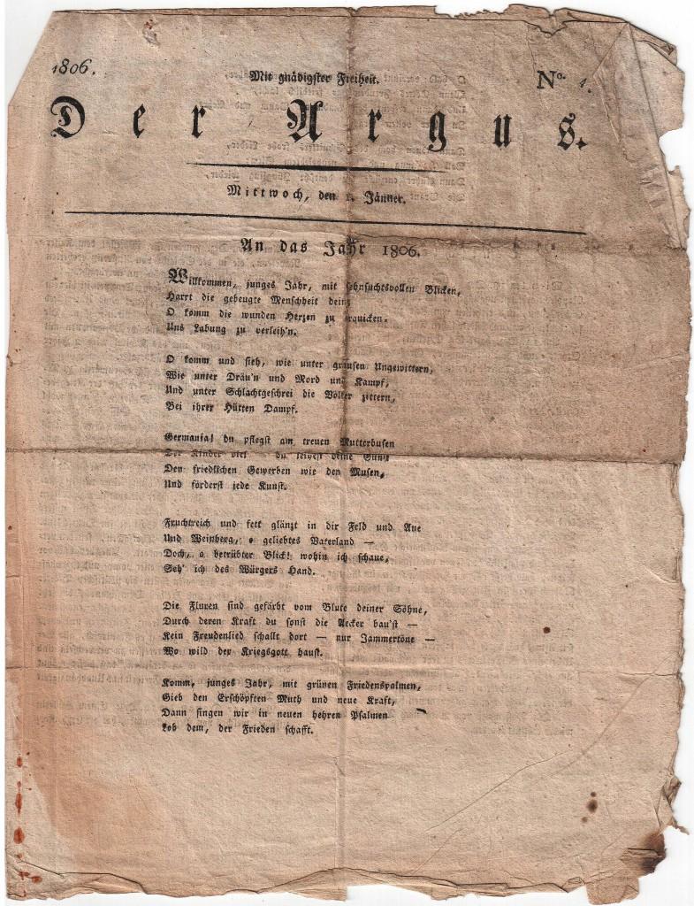 """""""Der Argus"""" von 1806"""