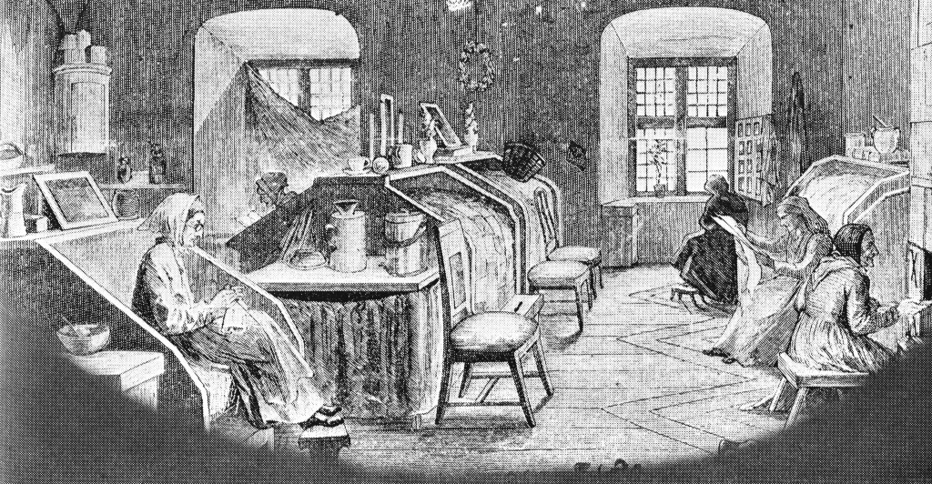 Alte Frauen im Armenhaus