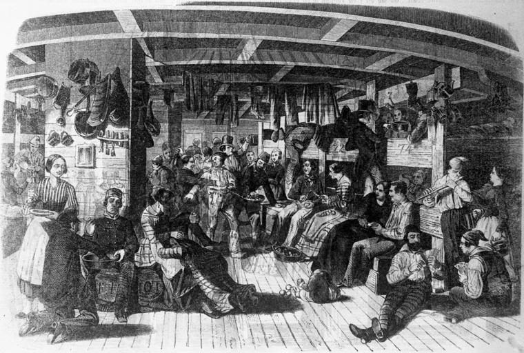 "Auswandererschiff ""Samuel Hop"", 19. Jahrhundert"