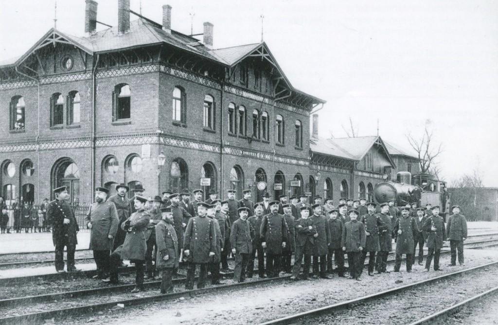 Bahnhof Dorsten um 1910
