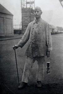 Steiger mit Wetterlampe 1916