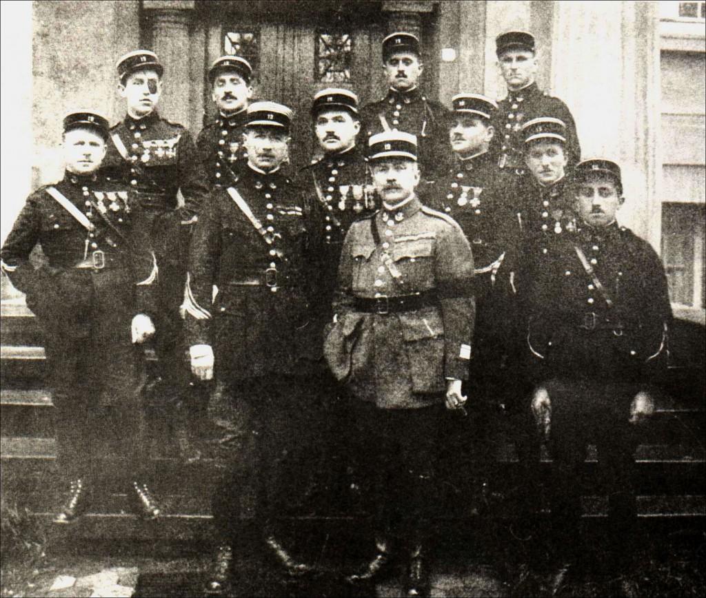 Belgische Offiziere in Dorsten