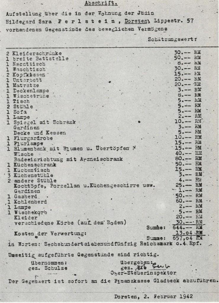 Inventarliste 1942