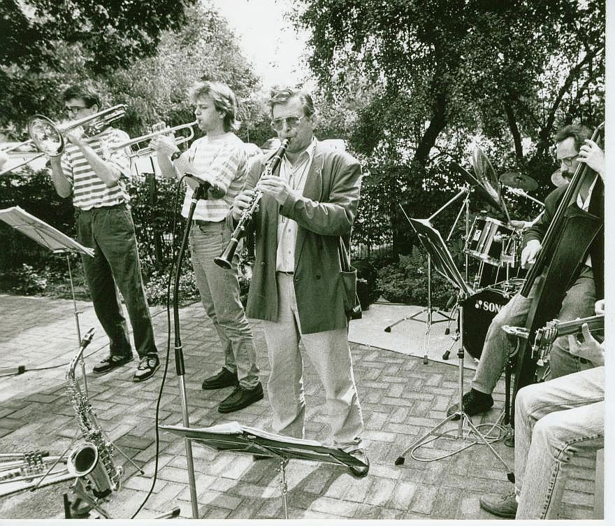 Konzert 1992 im Garten des Jüdischen Museums