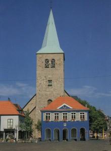 Das noch blaue Rathaus vor 1985