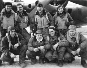 Britische Crew, die bei der Bombardierung Dorstens dabei war