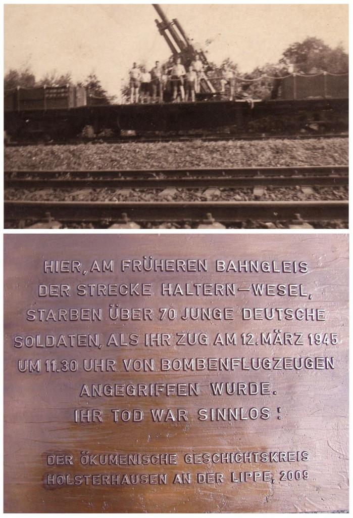 Oben: Bahnflak, unten: Informationstafel
