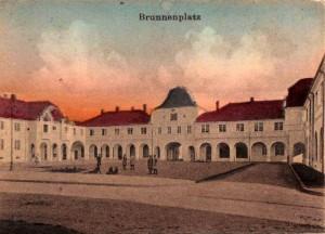 Brunnenplatz um 1912