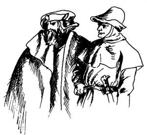Stadtbewohner im Mittelalter