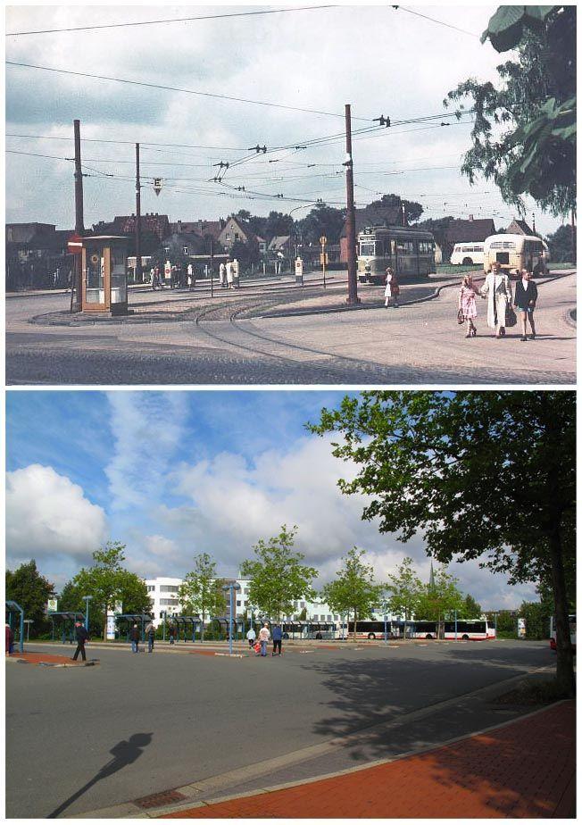 Busbahnhof früher und heute
