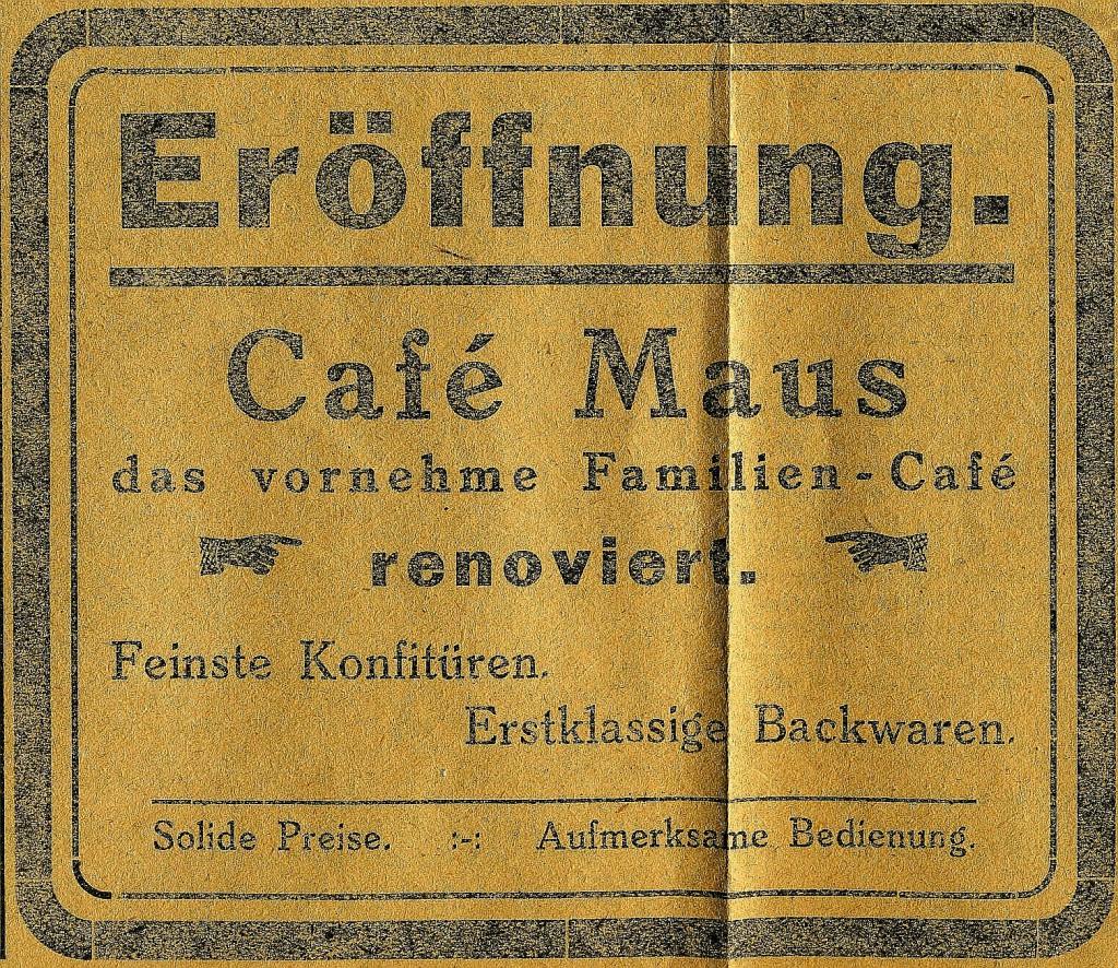 Inserat in der Dorstener Volkszeitung vom 24. Aug. 1923