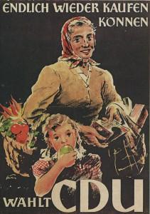 Nachkriegs-Wahlplakat CDU
