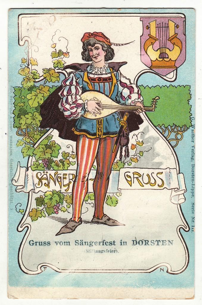 Postkarte vom Dorstener Sängerfest