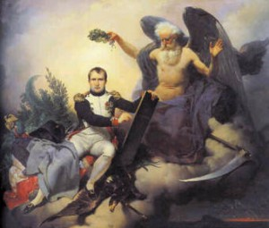Napoleon schreibt das Gesetz, Gemälde von Jean-Baptiste Maizaisse