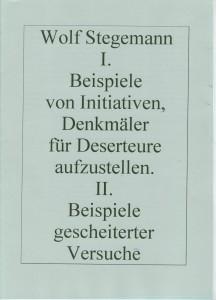Stellungnahme zur Initiative Deserteursdenkmal 1998