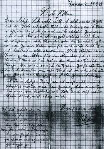 Abschriedsbrief des Dorstener Deserteurs
