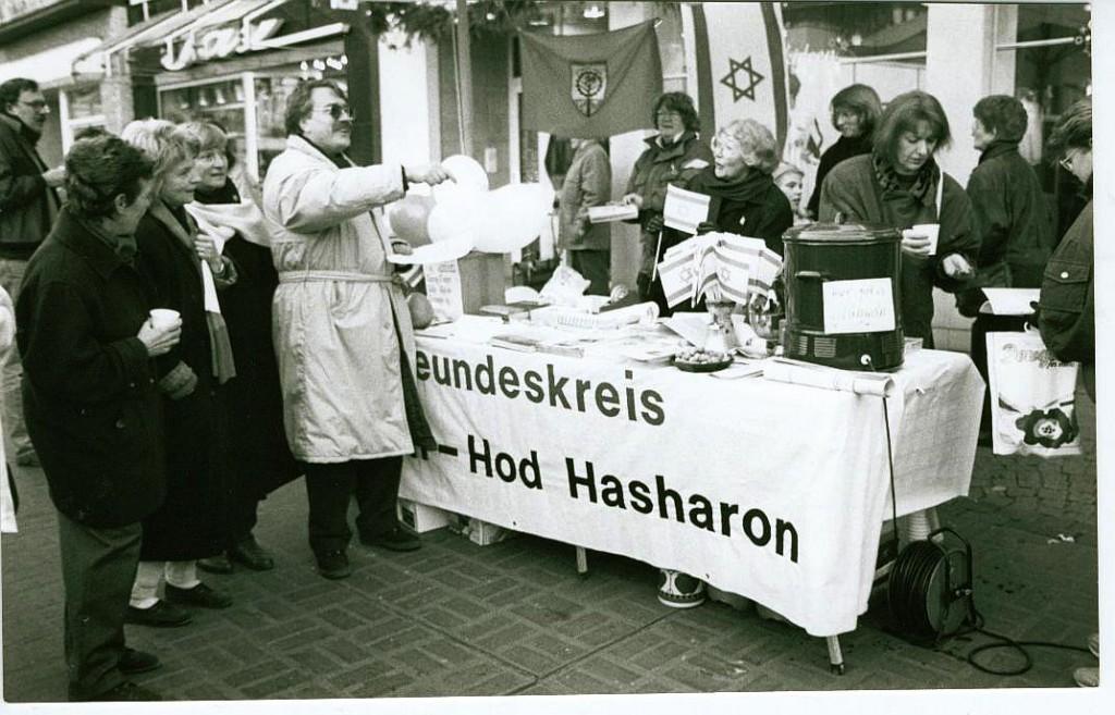 Informationsstand am Marktplatz