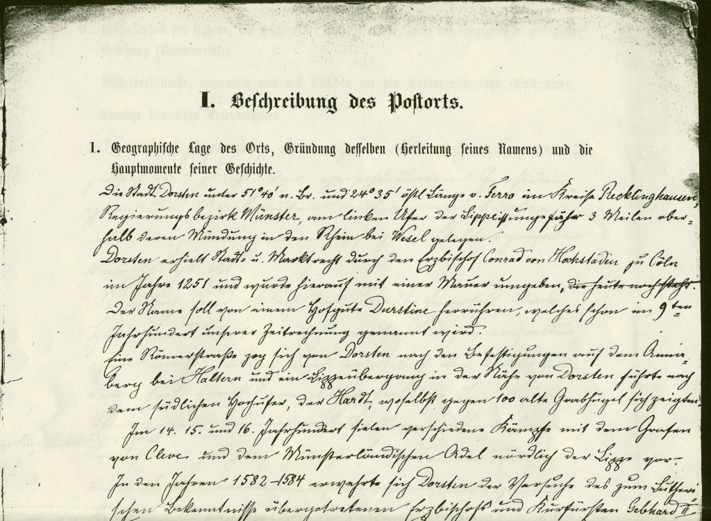 Bericht von 1890 (Faksimile-Ausriss)