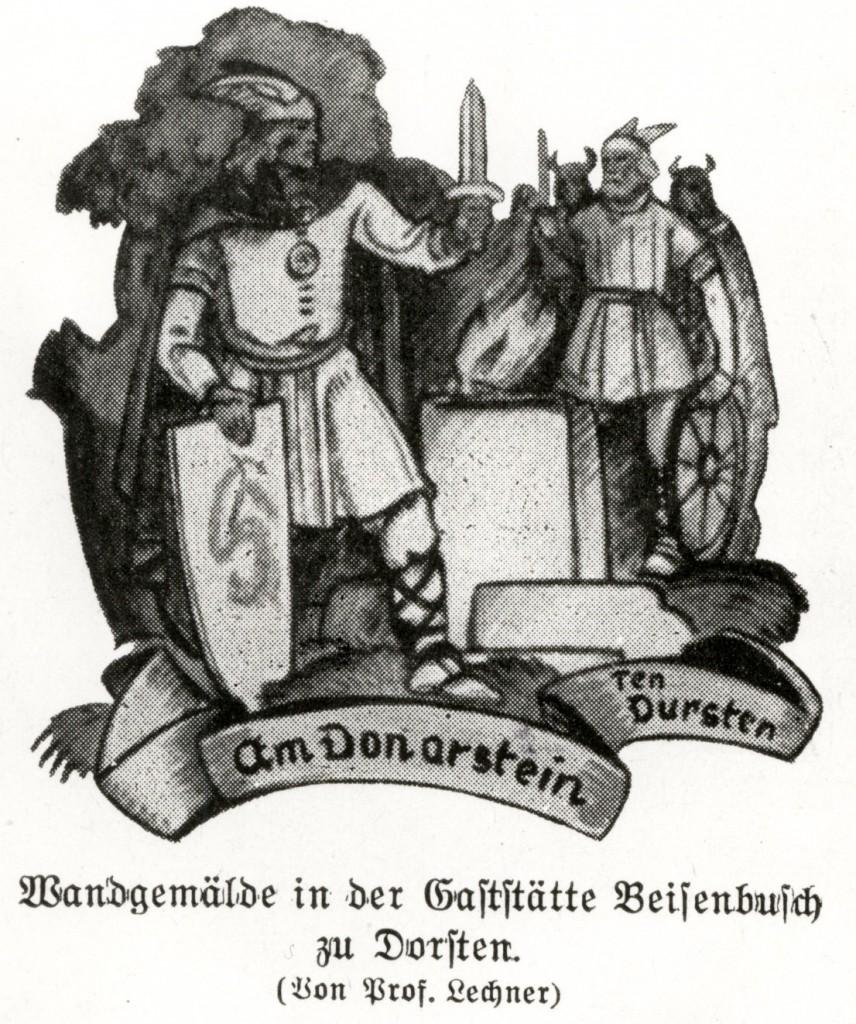 Wandgemälde Beisenbusch: Dorsten am Thorstein